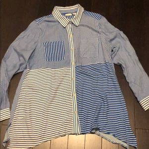 New Westbound striped  button down shirt